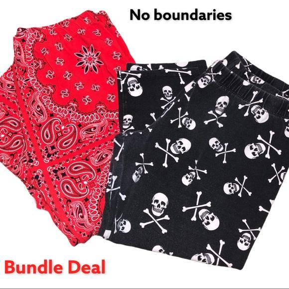 No boundaries 2 pair capris bundle deal!